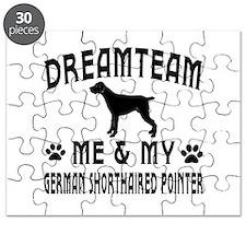 German Shorthaired Pointer Dog Designs Puzzle