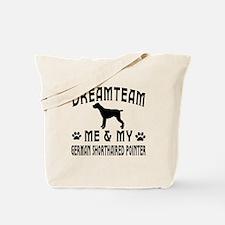 German Shorthaired Pointer Dog Designs Tote Bag