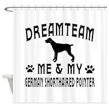 German Shorthaired Pointer Dog Designs Shower Curt