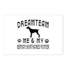 German Shorthaired Pointer Dog Designs Postcards (