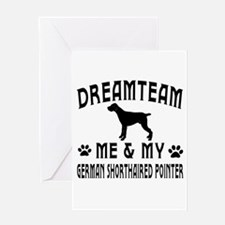 German Shorthaired Pointer Dog Designs Greeting Ca