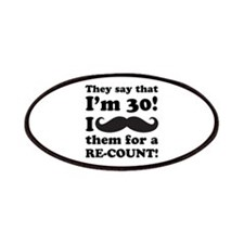 Funny Mustache 30th Birthday Patches