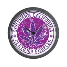 southern california certified purples Wall Clock
