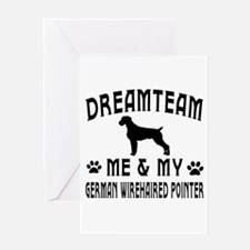 German Wirehaired Pointer Dog Designs Greeting Car