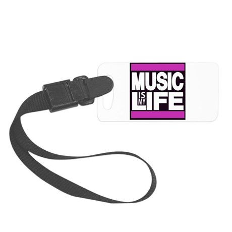music is my life pink Luggage Tag
