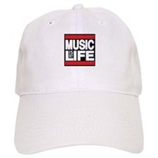 music is my life red Baseball Baseball Cap