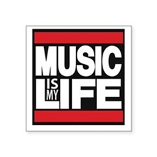 music is my life red Sticker