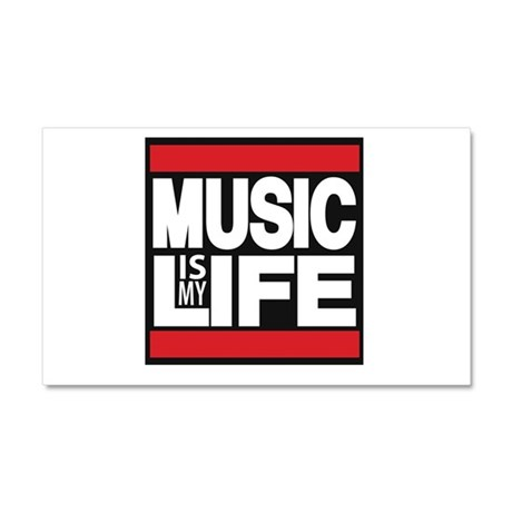 music is my life red Car Magnet 20 x 12