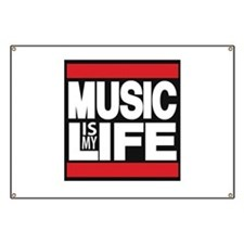 music is my life red Banner