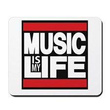music is my life red Mousepad
