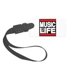 music is my life red Luggage Tag