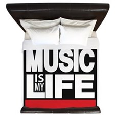 music is my life red King Duvet