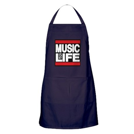 music is my life red Apron (dark)