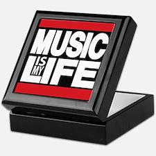 music is my life red Keepsake Box