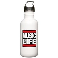 music is my life red Water Bottle