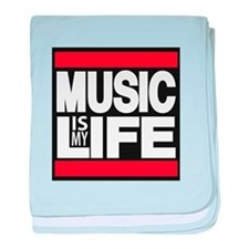 music is my life red baby blanket
