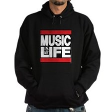 music is my life red Hoodie