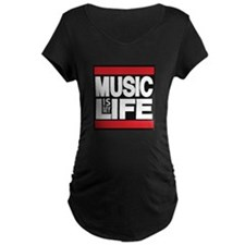 music is my life red Maternity T-Shirt