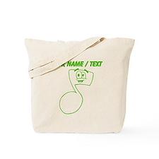 Green Custom Cartoon Eigth Note Tote Bag