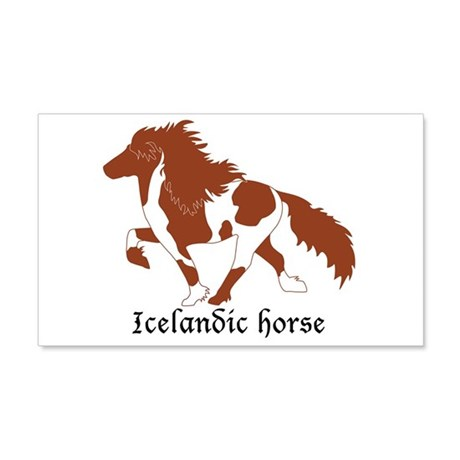 Chestnut Pinto Icelandic Horse 20x12 Wall Decal