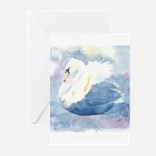 Pastel Swan Greeting Cards (Pk of 20)