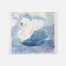 Pastel Swan Throw Blanket