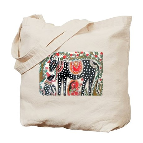 Cow and Cowherd Tote Bag