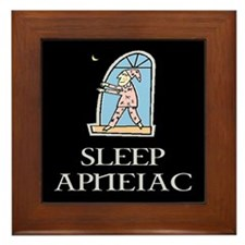 SLEEP APNEIAC Framed Tile
