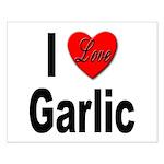 I Love Garlic Small Poster