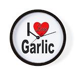 I Love Garlic Wall Clock