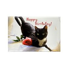 Happy Birthday Kitty Rectangle Magnet