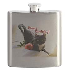 Happy Birthday Kitty Flask