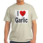 I Love Garlic (Front) Ash Grey T-Shirt