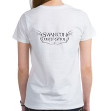 Womens Back Print White T-shirt