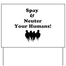 Spay Neuter Yard Sign
