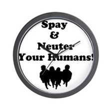 Spay Neuter Wall Clock