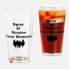 Spay Neuter Drinking Glass