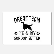 Gordon Setter Dog Designs Postcards (Package of 8)