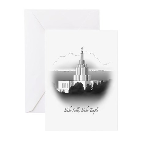 Idaho Falls, Idaho Temple Greeting Cards (Package