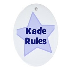 Kade Rules Oval Ornament