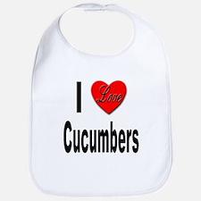 I Love Cucumbers Bib