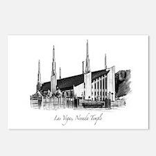 Las Vegas, Nevada Temple Postcards (Package of 8)
