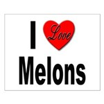 I Love Melons Small Poster