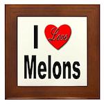 I Love Melons Framed Tile