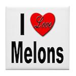 I Love Melons Tile Coaster