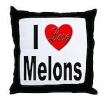 I Love Melons Throw Pillow