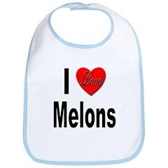 I Love Melons Bib