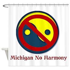 Michigan No Harmony Shower Curtain