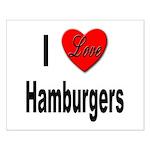 I Love Hamburgers Small Poster