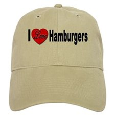 I Love Hamburgers Baseball Baseball Cap